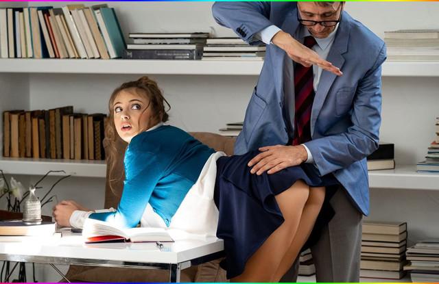 Мужчина нагнул молоденькую секретаршу и трахнул прямо на столе