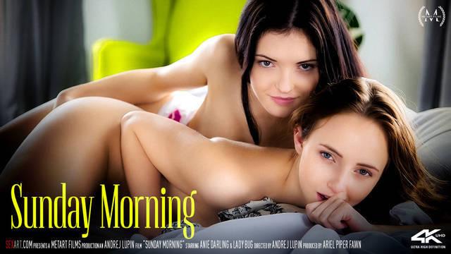 Нежные лесбиянки потрахались с утра в постели